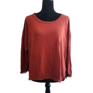 J Crew Knit XL 3/4 Sleeve Top